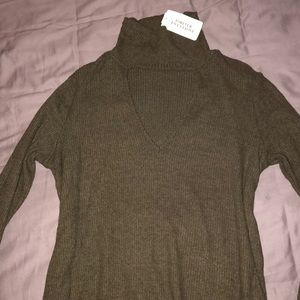Olive Forever 21 Sweater